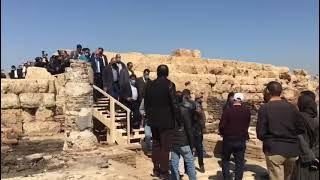 وزير الآثار يفتتح مشروعي ترميم وتطوير معبد أتريبس ومقابر الحواويش بمحافظة سوهاج