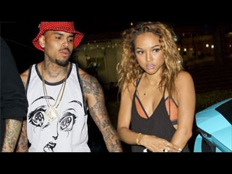 Chris Brown & Karrueche Tran Kiss & Make up in a Club after Rihanna Drama