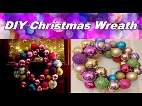 DIY Christmas Bulb Wreath - DIY Karácsonyi gömb koszorú készítése