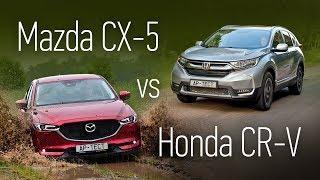 Mazda CX-5 или Honda CR-V? Сравнительный тест на асфальте и бездорожье. Тесты АвтоРЕВЮ.