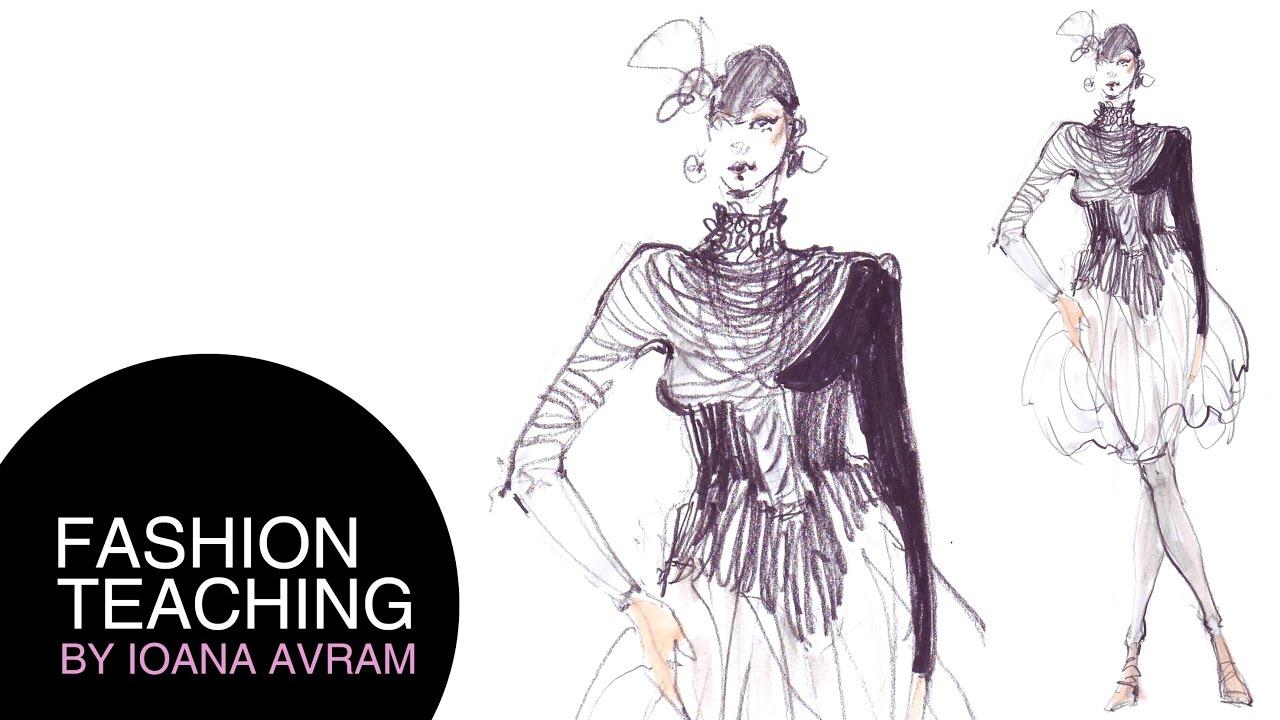 Easy Fashion Sketches Prom Dresses