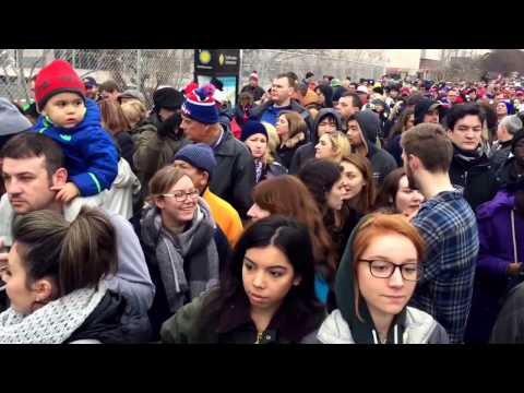 Quang cảnh đám đông sau lễ tuyên thệ Tổng thống Mỹ