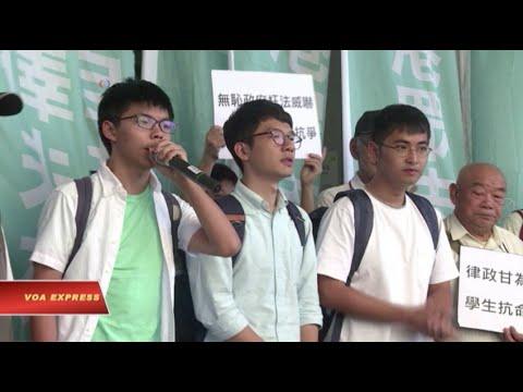 Các thủ lĩnh sinh viên Hồng Kông thoát án tù