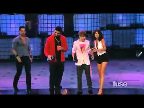flirting :> , Justin Bieber flirting with Selena Gomez at MMVA's+JB and Drake tie at an AWARD ♥
