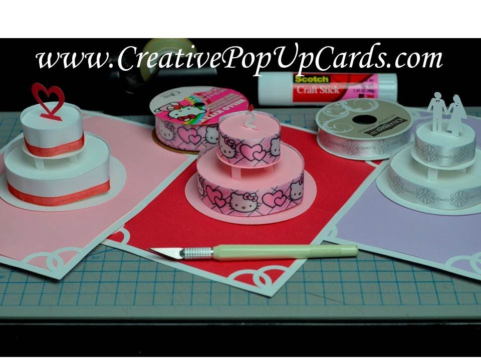 Birthday Cake Pop Up Card Tutorial