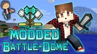 Minecraft: MODDED BATTLE-DOME w/Mitch & Friends Part 2 - BALKON'S WEAPONS MOD!