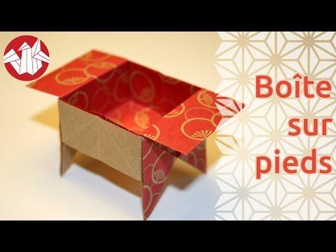 Comment faire une boîte traditionnelle sur pieds en papier ?