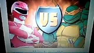 The Ninja Turtles Vs The Power Rangers! Who Wins It?