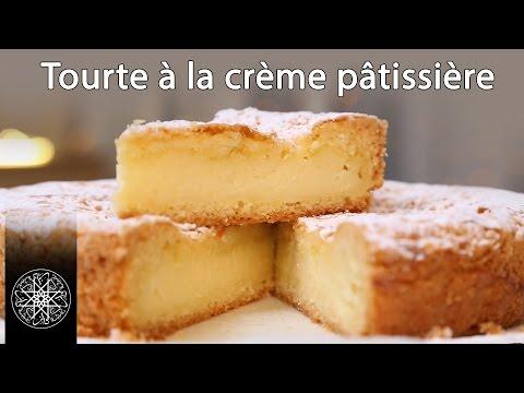 Choumicha : Tourte à la crème pâtissière - Gâteau Basque (VF)