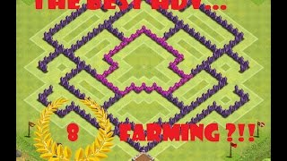Clash Of Clans The BEST HDV 8 Farming ?!!