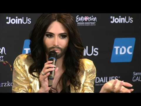 ESCKAZ in Copenhagen: Austria meet and greet Conchita Wurst