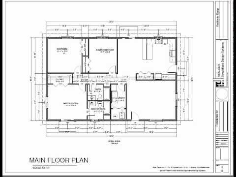 H74 ranch house plans 1600 sq ft slab 3bdrm 2 bth youtube for 1600 square foot ranch house plans