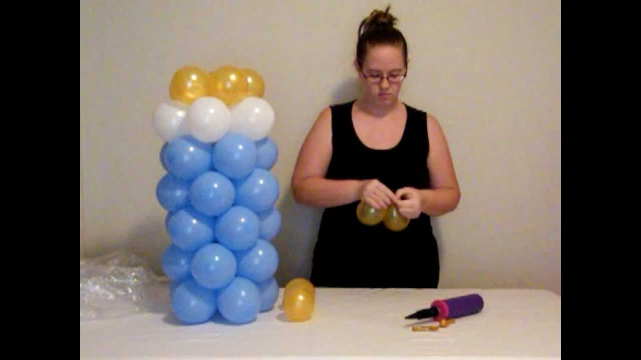 How to make balloon baby bottle youtube for Baby bottle balloon decoration
