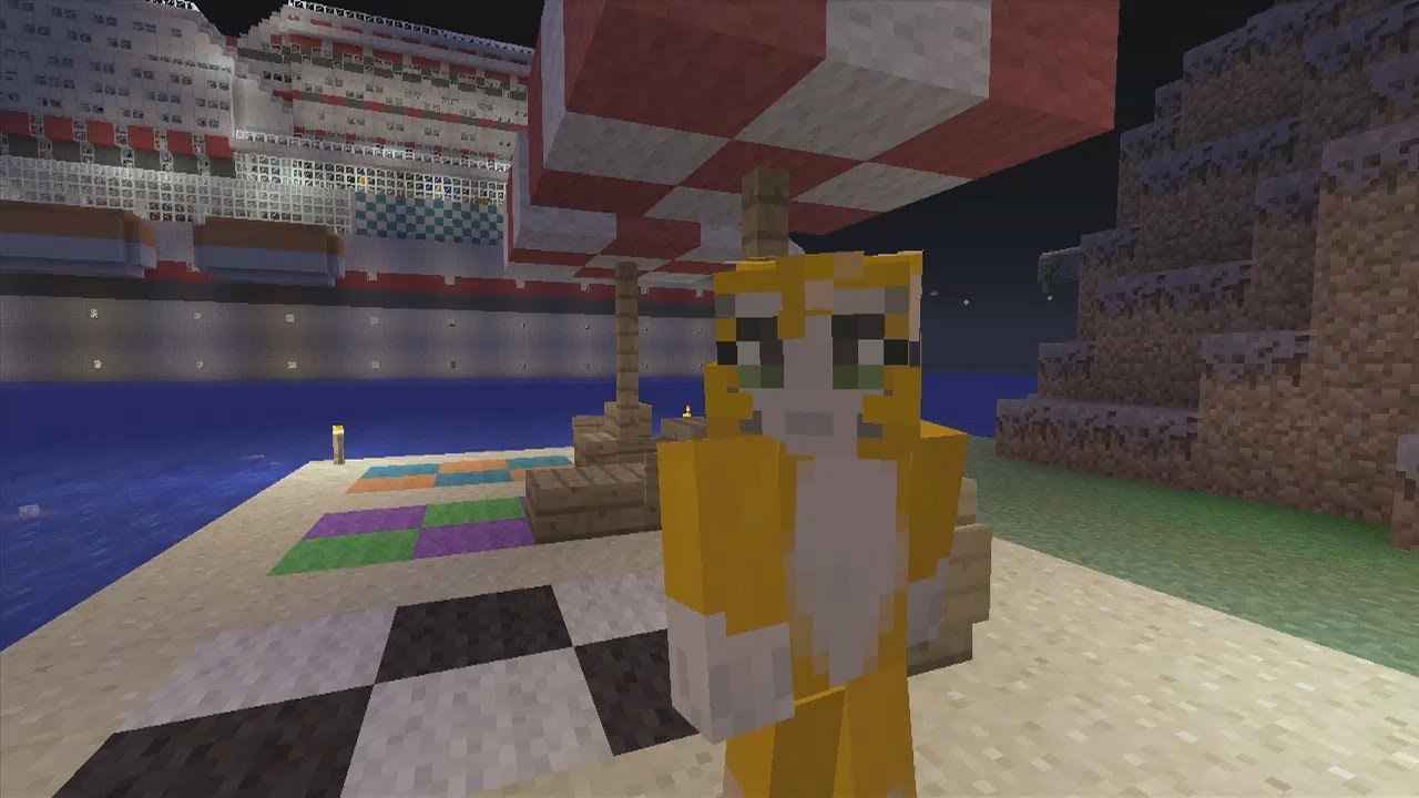 Minecraft Xbox Hunger Games Cruise Ship With Mr Stampy Cat