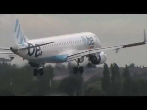 Flybe B757, Pakistan International Airlines B777 @ Birmingham Airport (BHX, EGBB) (HD)