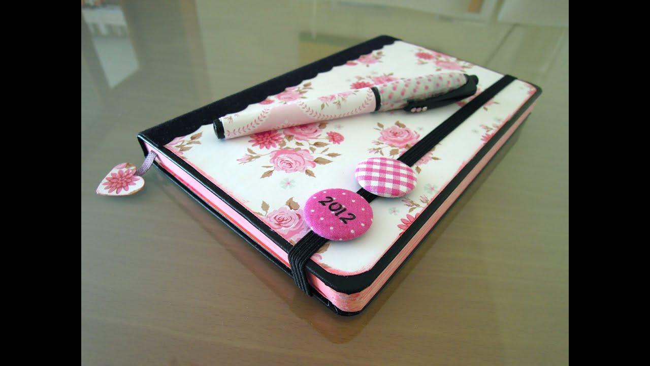 Manualidades de papel c mo decorar una agenda moleskine - Manualidades para hacer ...