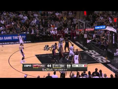 Patty Mills 17 points vs Miami Heat | game 5 | 2014 NBA finals