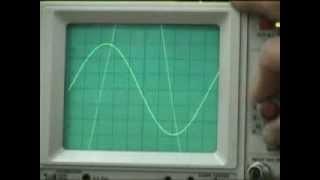 Osciloscopio Onda Senoidal Y Calculo Defasaje