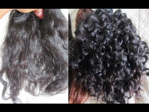 howto make straight hair curly with perm experiment youtube