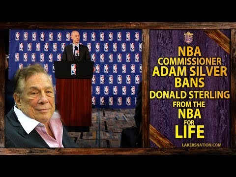 NBA Commissioner Adam Silver Bans Clippers Owner Donald Sterling For LIFE