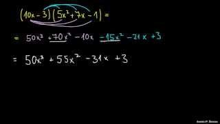 Množenje polinomov – primer 4