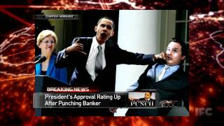 The Onion: President's Approval Rating Soars after Punching Wall Street Banker in Face