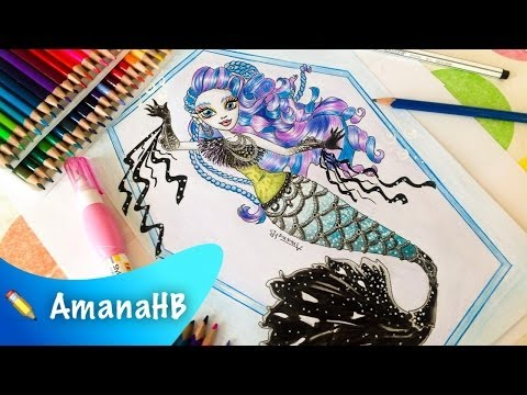 🐠 Speed Drawing of Sirena Von Boo - Monster High 🐠