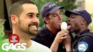 Policajti sa delia o zmrzlinu - skrytá kamera