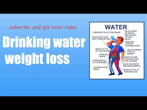 Drinking water weight loss