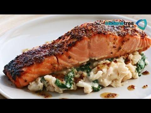 Receta para preparar salm n crujiente receta de salm n for Como cocinar salmon