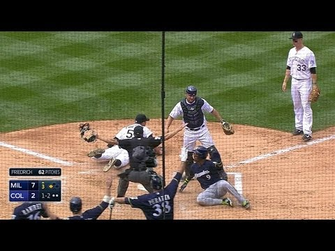 MIL@COL: Brewers clear the bases on a wild pitch