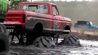 Mud Slut Vs Floored Whore Mud Truck Tug-O-War