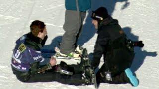 Shaun White Crash SNB Slope Olympic Qualifier #3 - U.S. Snowboarding