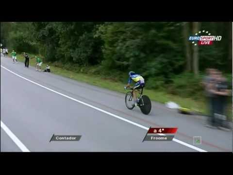 Vuelta 2012 Alberto Contador Individual Time Trial (highlights hd) stage 11