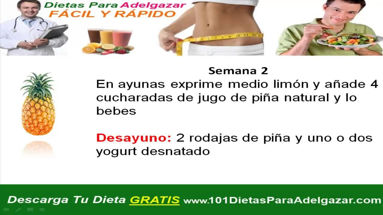 Dietas efectivas para bajar de peso rapido y sin rebote