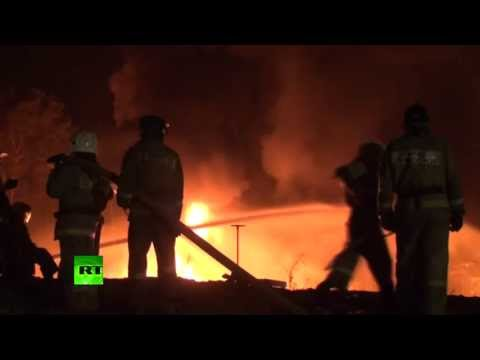 Под Ангарском загорелось нефтехранилище