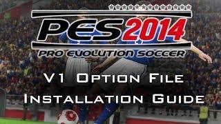 PES 2014 Most In-depth Option File Installation Guide V1