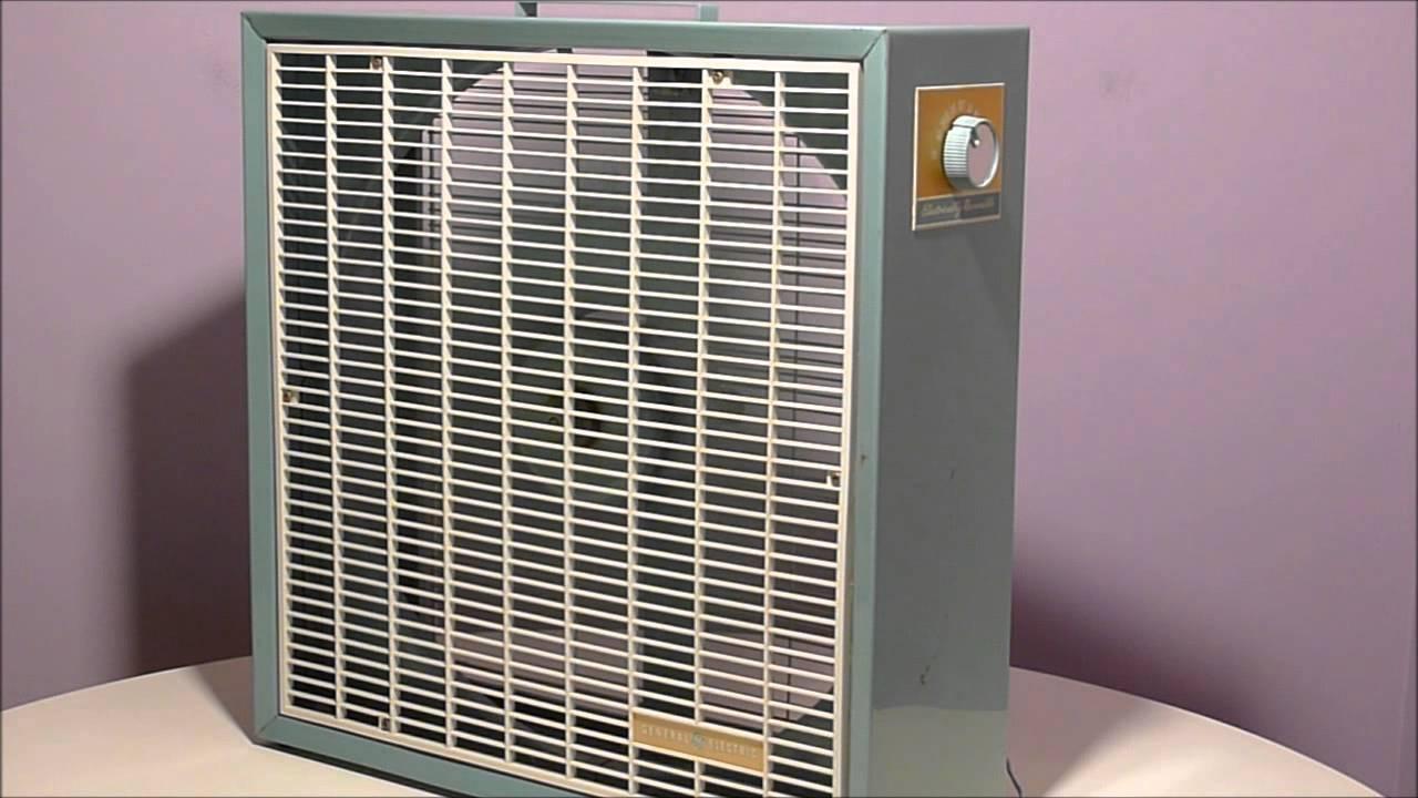 1960s Box Fan : Powerful s general electric vintage box fan youtube