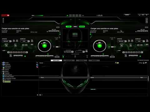 Skin Alien Green Para Virtual Dj 7