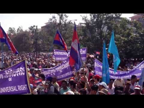 Thousand of Khmer People Joined Peaceful Protest on Human Rights Day