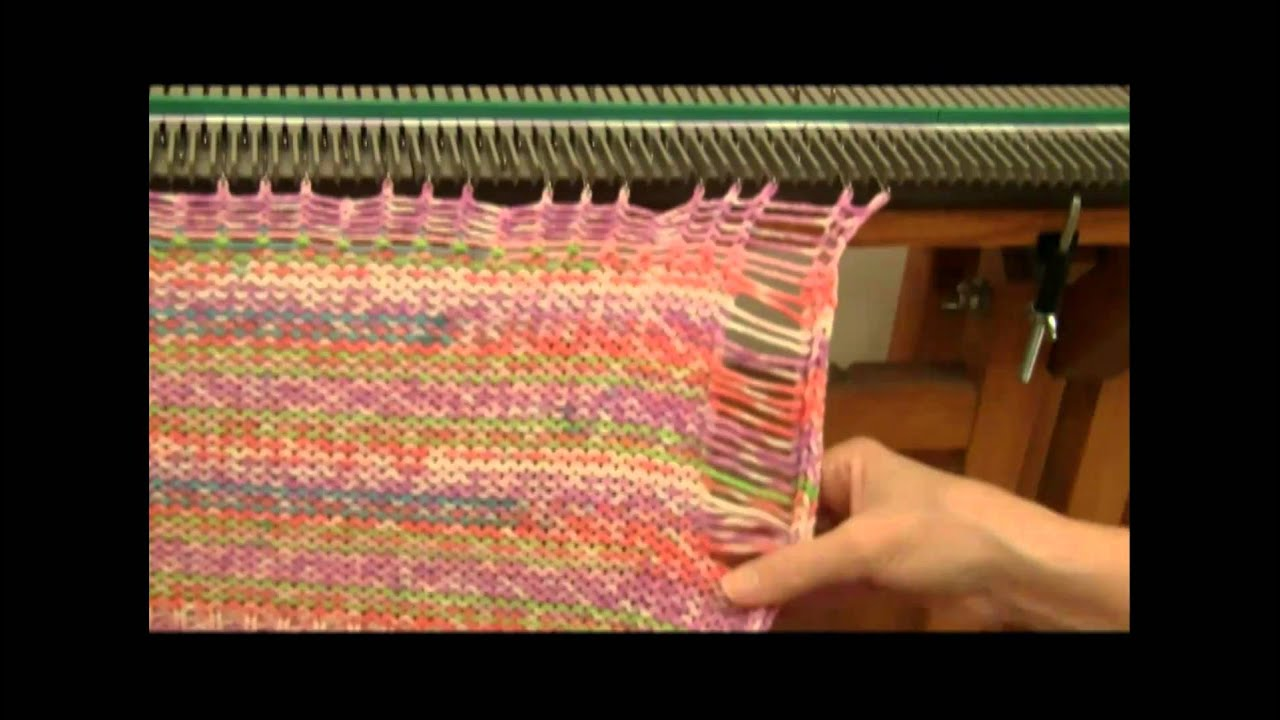 Ultimate Knitting Machine Patterns : Ultimate Sweater Machine Hat 2 of 2 (corrected) - YouTube