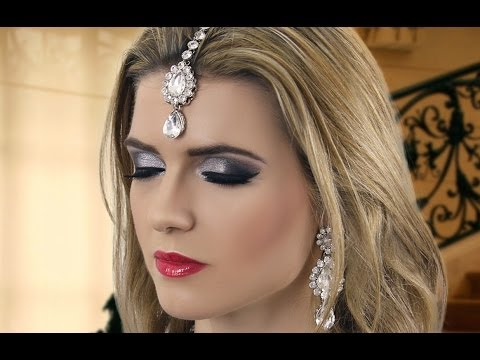 Black Smokey Eye Evening Party Makeup Indian Asian Pakistani Arabic Bengali