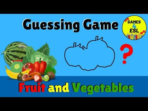 English Vocabulary Games For Kids | Fruit and Vegetables Vocabulary