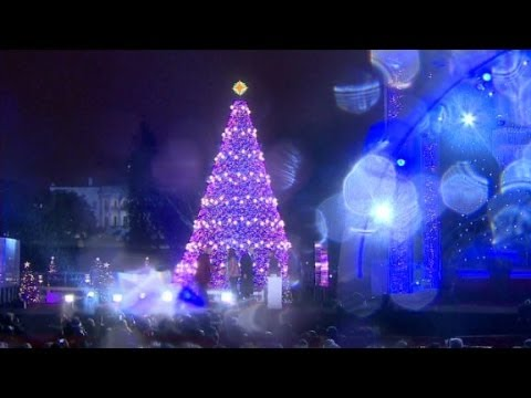 President Obama lights the National Christmas Tree