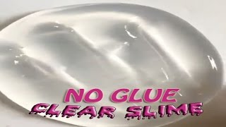 No Glue Clear Slime with Shampoo and Salt, How to make Clear Slime only 2 Ingridients