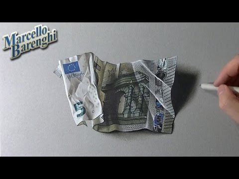 5 euro banknote drawing