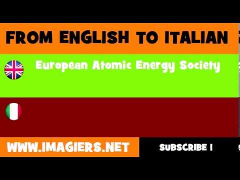 How to say European Atomic Energy Society in Italian