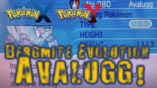 Pokémon X And Y Bergmite Evolution! Avalugg!
