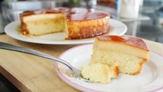Caramel Custard Cake Recipe คัสตาร์ดเค้ก - Hot Thai Kitchen