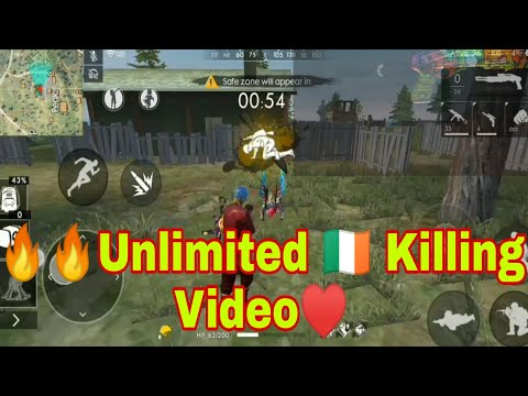 Free fire Unlimited killing video | Very Hard and Funny killing video